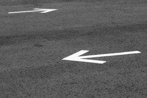 arrow, road, road signs